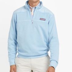 Vineyard Vine Pale Blue shep shirt I bought a men's because of the color, but looks great. Only worn once. Vineyard Vines Jackets & Coats
