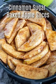 Cinnamon Sugar Baked Apple Slices - This easy recipe for baked apple slices adds a little cinnamon and sugar to green apples for the pe - Green Apple Recipes, Best Apple Desserts, Apple Recipes Easy, Apple Dessert Recipes, Baking Recipes, Recipes For Apples, Desserts With Apples, Cooking Apple Recipes, Recipes For Desserts