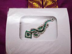 Belly Dance Bindis / Maang Tikka Green Crystal by BindisRUs, $6.99
