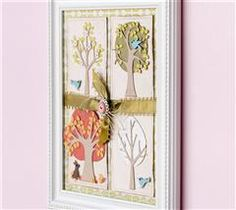 Brighten up a corner of your home with this adorable artwork depicting the four seasons.