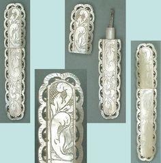 Lovely Antique Mother of Pearl Palais Royal Needle Case * Circa 1820
