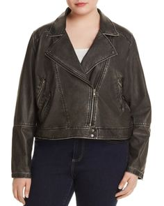 Designed with moto-inspired flourishes in sleek faux leather, this revved-up jacket from Lysse Plus boosts the edge factor of your cool-weather wardrobe. Vegan Leather Jacket, Plus Size Outerwear, Jackets Online, Moto Jacket, Plus Size Outfits, Plus Size Women, My Style, Flourishes, Weather