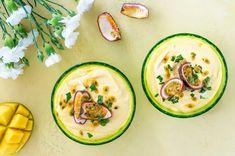 Mango-passionmousse – Hellapoliisi Avocado Egg, Let Them Eat Cake, Zucchini, Mango, Eggs, Vegetables, Breakfast, Food, Manga