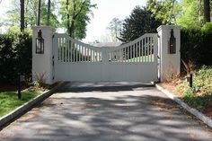 Driveway gate                             Peachtree Battle Home Tour 2014 by Things That Inspire, via Flickr