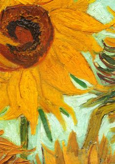 Sunflowers make me happy- Vincent Van Gogh...  thinking this would be great to recreate as we get our sunflower garden going...