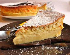 gateau magique vanille : avec une variante framboise et une autre chocolat blanc... gah