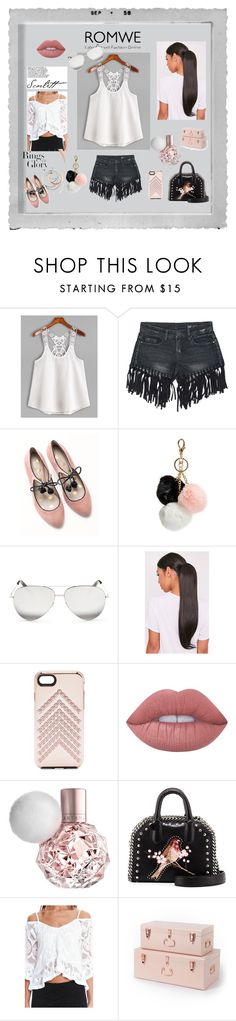 """""""With ROMWE"""" by explorer-14673103603 ❤ liked on Polyvore featuring Sans Souci, Boden, GUESS, Victoria Beckham, Rebecca Minkoff, Lime Crime, STELLA McCARTNEY, Nightcap, Tiffany & Co. and Polaroid"""
