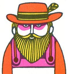 Sort of creepy man from John Alcorn, Fireside Book of Children's Songs, 1969.