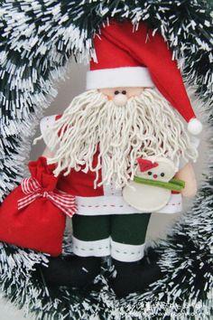펠트공예 : 산타인형 만들기 : 크리스마스 장식 소품 만들기 : 네이버 블로그