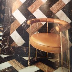 Color of tile! Design by Kelly Wearstler