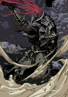 """Dragonslayer Armour"" by Ershao Guo Arte Dark Souls, Soul Saga, Character Art, Character Design, Dark Blood, Knight Art, Sad Art, Gothic Horror, Anime Characters"