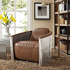 Visibility Lounge Chair in Brown