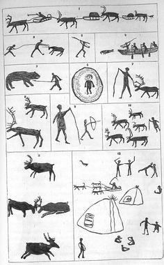 Vegas färd kring Asien och Europa - Tolfte kapitlet Paleolithic Art, Stone Age Art, Cave Drawings, Art Ancien, Rock Painting Patterns, Blue Tattoo, Painting Tattoo, Retro Illustration, Canadian Art