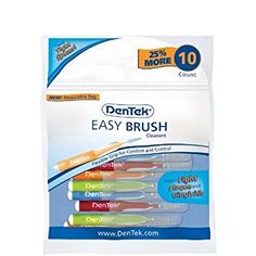 DenTek Easy Brush Cleaners (8 ct.) Review Swept Away, Dental Floss, Brush Cleaner, Easy, Health And Beauty, Personal Care, 10 Count, Handle, Unique