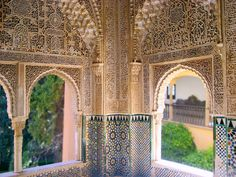 There are places in the world that seem just too magical to be real-- for me, the Alhambra Palace in Granada, Spain is one of those places. Andalusia Spain, Granada Spain, Islamic Architecture, Architecture Details, Spain History, Amsterdam, Carcassonne, Home Building Design, Islamic World