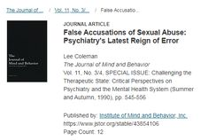 False accusations of sexual abuse