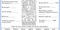 Facts about Boudicca.  Try this with our Boudicca Comprehensions.  Differentiated six ways.