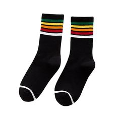 New Arrival, Striped Cotton Socks, Rainbow Colors Fashion Socks, Girl Fashion, Rainbow Socks, Colorful Socks, Striped Socks, Cotton Socks, Pretty Outfits, Pretty Clothes, Winter Boots