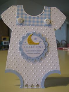 Baby Boy Onesie Card by Cards and Paper Crafts at Splitcoaststampers Baby Boy Onesie Card by Cards and Paper Crafts at Splitcoaststampers Sonja Templin Karten und hnliches mit nbsp hellip Baby Boy Cards Handmade, New Baby Cards, Baby Shower Invitaciones, Cute Cards, Cards Diy, Kids Cards, Scrapbook Cards, Baby Scrapbook, Homemade Cards