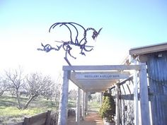 metal art dragon  This would be so cool on my roof!