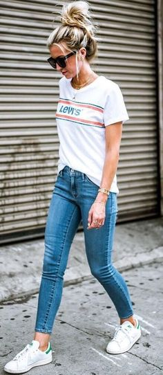 Casual everyday outfit ideas for school jeans