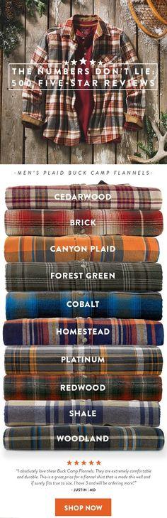 Men's Plaid Buck Camp Flannels