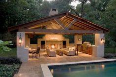 Pergola Pool House