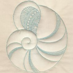My favorite design from Trapunto Seashells Adapt to continuous line for nautical quilt?