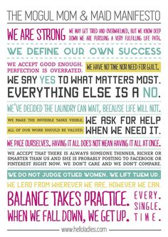 Mogul, Mom & Maid Manifesto mounted poster for your wall.