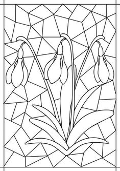 Best Picture For Mandala Art meaning For Your Taste You are looking for something, and Flower Coloring Pages, Coloring Book Pages, Stained Glass Patterns, Mosaic Patterns, Spring Art, Spring Crafts, Diy And Crafts, Arts And Crafts, Flower Crafts