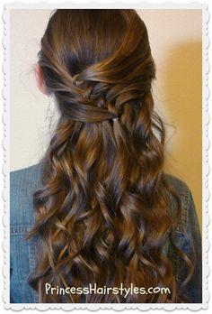 Cute diagonal knotted braid hairstyle