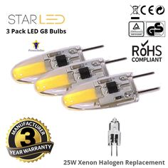 3 Pack StarLED 20W Equivalent G8 LED Xenon Halogen Replacement Warm White 3000K #StarLED