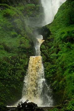 Pistyll Rhaeadr Waterfall, Wales ♥ Enjoy with love from http://www.shop.embiotechsolutions.co.uk/AquaFresh-EM-Ceramics-Water-Butt-Treatment-250g-AquaFresh250.htm