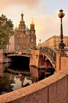 St Petersburg, Russia.  I've been here, but I want to go back!  The Church on Spilled Blood has some of the most beautiful domes I've ever seen!  #Travel #Russia # St_Petersburg
