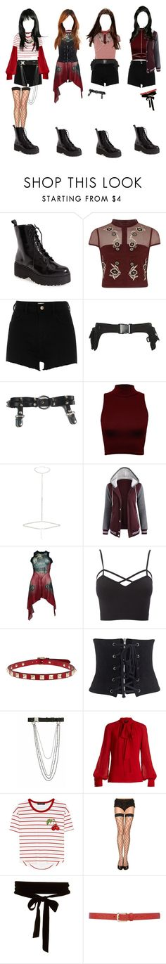"""""""kpop au    debut stage- black widow {ignite}"""" by galaxiumin ❤ liked on Polyvore featuring Jeffrey Campbell, River Island, WearAll, Jean-Paul Gaultier, Charlotte Russe, Valentino, WithChic, Alyx, Giambattista Valli and Dolce&Gabbana"""