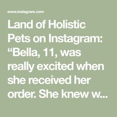 "Land of Holistic Pets on Instagram: ""Bella, 11, was really excited when she received her order. She knew we had packed a delicious treat for her! Her very first chicken foot,…"""