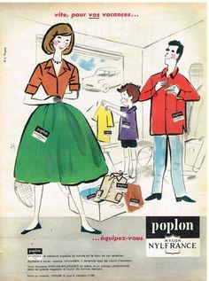 Publicité Advertising 1959 Tissu Popeline Poplon Nylfrance | eBay