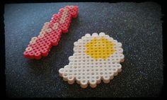 Eggs & Bacon Perler Bead Magnets. $3.00, via Etsy.