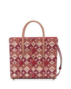 77b4916c7c49ee Christian Louboutin Paloma Medium Calf Paris LoubiX Patent Tote Bag