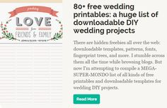 Free wedding printables from @offbeatbride
