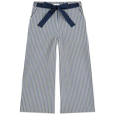 UNLABEL Song Wide Navy Striped Pants