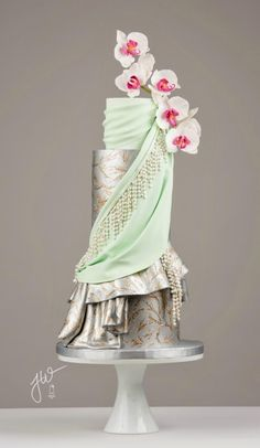 Kashvi - Elegant Indian Fashion part 2 - Cake by Jeanne Winslow Fancy Wedding Cakes, Indian Wedding Cakes, Amazing Wedding Cakes, Fancy Cakes, Amazing Cakes, Indian Cake, Cake Wedding, Pretty Cakes, Beautiful Cakes
