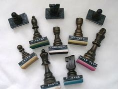 Make your own ink blending tools from dominoes and chess pieces