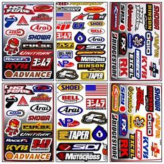 Graphic Racing Sticker Decal Motocross ATV Dirt 6 Sheets R601-4 - http://droppedprices.com/racing/graphic-racing-sticker-decal-motocross-atv-dirt-6-sheets-r601-4/