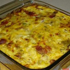 Casserole, Layers: Hashbrowns, Bacon, Eggs & Cheese