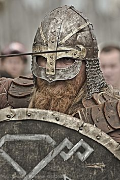 This is what a Viking helmet looked like, note the lack of horns.
