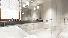 Stunning-White-Interior-Bathroom-Design-with-Modern-Rectangle-White-Bathtub-Furniture-Ideas-also-Beautiful-Wall-Lamps-Lighting-Ideas-and-Small-Interior-Shower-Room-Design-for-Adorable-Interior-Design-Ideas.jpg 900×500 pixels