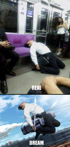 GoBoiano - 17 Times Fans Raised the Bar For Anime Comedy When you're on the train and feel like becoming an anime http://ibeebz.com