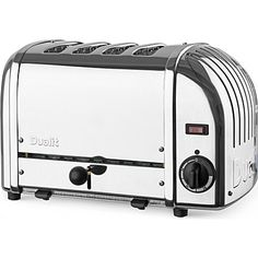 Vario four slice toaster - DUALIT - Kitchen electrical - Kitchen - Shop Room - Home & Tech | selfridges.com