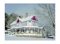 It's like a real life Thomas Kinkade house!  1890 Burnsville, NC